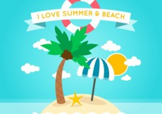 Free vector Summer and beach background #16758