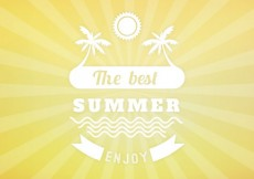 Free vector Summer background with suburst #16875
