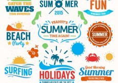 Free vector Summer badge collection #14631