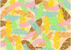 Free vector Summer Feather Pattern #12240