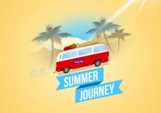 Free vector summer journey background #13068
