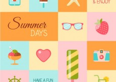 Free vector Summertime icons #12397