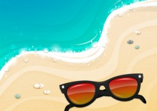 Free vector Sunglasses on the sand #13508
