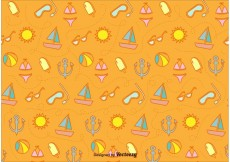 Free vector Sunny Beach Icons Pattern #16215