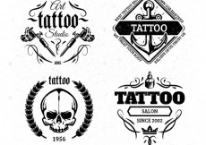 Free vector Tattoo badges #19786