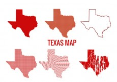 Free vector Texas map vectors #15666