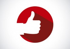 Free vector Thumb up on red circle #16423