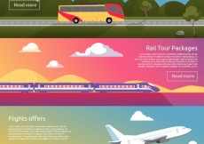 Free vector Transport banners #17159