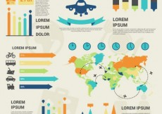 Free vector Travel infographic elements #13386