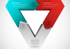 Free vector Triangular infographic #16687