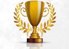 Free vector Trophy made of gold #17534