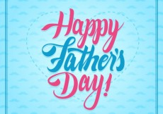 Free vector Typographic happy fathers day card #14637