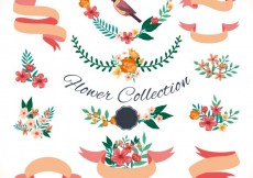 Free vector Variety of floral decoration #15022