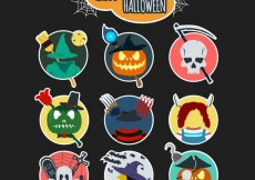 Free vector Variety of halloween labels #12656