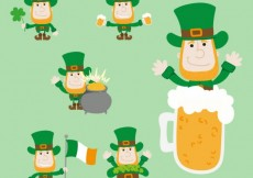 Free vector Variety of leprechauns #19552
