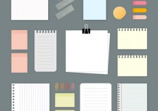Free vector Variety of paper notes #13568