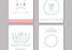Free vector Variety of wedding invitations #15392
