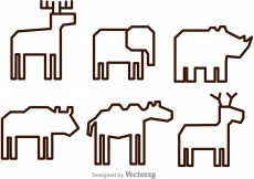 Free vector Vector Animal Outline Icons #12444