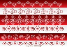 Free vector Asian Flowers Border Ornament #16602
