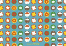 Free vector Autumnal icons pattern #12934