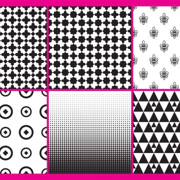 Free vector Black And White Patterns #12354