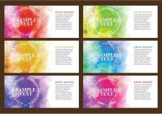 Free vector Boho Watercolor Banners #13615