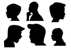 Free vector Boys Side Face silhouette #14472