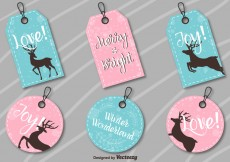 Free vector Christmas labels #18928