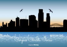 Free vector Corpus Christi Texas Skyline Illustration #15798