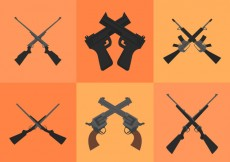 Free vector Crossed Guns #14270