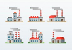 Free vector Factory Corporation Flat Icons Style #15233