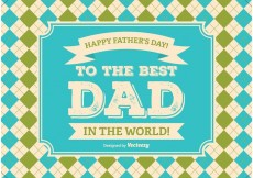Free vector Fathers Day Illustration #19212