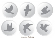 Free vector Vector Flying Bird Icons #14172