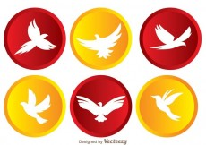 Free vector Vector Flying Bird In Circle Icons #14218