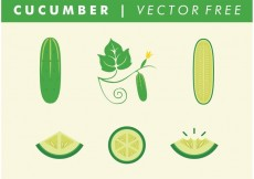 Free vector Vector Free Cucumbers #19407