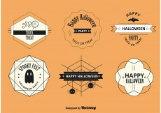 Free vector Halloween Labels and Badges #12374