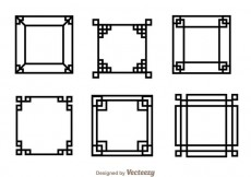 Free vector Japanese Square Frame #16528