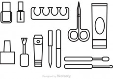 Free vector Vector Manicure Pedicure Outline Icons #13901