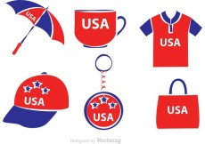 Free vector Vector Merchandise Made In USA #13713