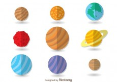 Free vector Planets Flat Icons #19068