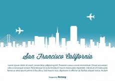 Free vector San Francisco Skyline Illustration #14925
