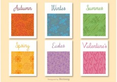 Free vector Seasons of the year decorative cards #16241