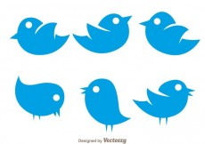Free vector Vector Simple Twiter Bird Icons #14178