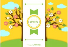 Free vector Spring Background Label Template #19731
