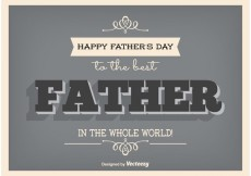 Free vector Typographic Father's Day Poster #18353