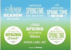 Free vector Typographic Spring labels #19303