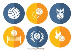 Free vector Volleyball Circle Icons #16586