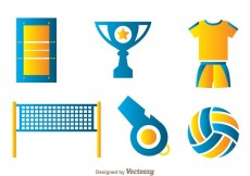 Free vector Volleyball Element Icons #16658