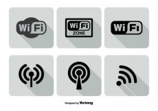 Free vector Wifi Logo Icon Set #16402