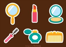 Free vector Vector Woman Cosmetic Icons #15293